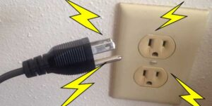unplug the power cable from the socket