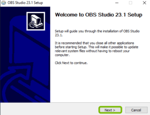Install The OBS Studio