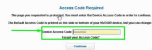Device Access Code