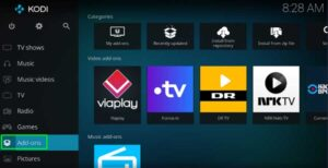 Add-Ons from the homepage of Kodi